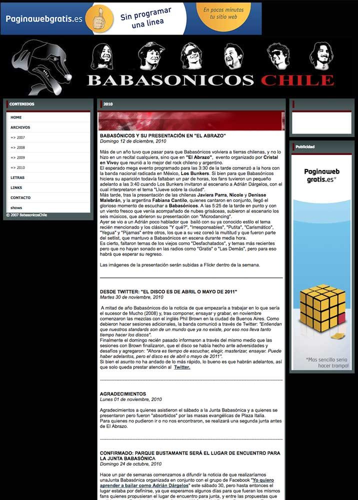 Babasónicos Chile